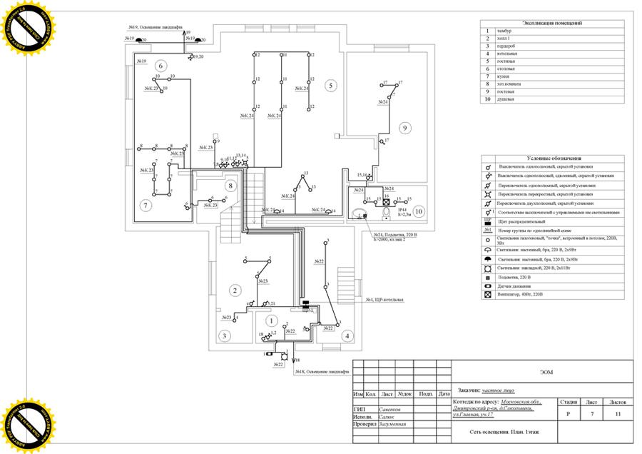 образец проекта электроснабжения частного дома - фото 9