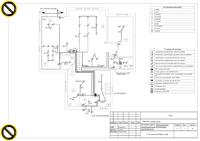 Пример проекта электроснабжения коттеджа. Проект-схема освещения (2 этаж)